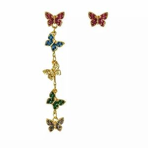 Betsey Johnson Jewelry - New🦋 Butterfly Multicolored Earrings